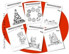 Coloriages de Noël Preschool Christmas, Noel Christmas, Christmas Colors, Christmas Crafts, Christmas Decorations, Xmas, Christmas Activities, Christmas Printables, Crafts For Kids