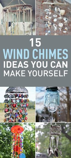 Wind chimes could add a nice touch to your house and could also generate nice sounds when the wind blows through the chimes. Wind chimes are easy to create typically they are made from suspended tubes rods and bells; however you can repurpose many old things you already have and turn them into wonderful wind chimes. Here are 15 beautiful wind chimes ideas you can create on your own.