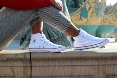 White chuck taylor all star converse sneakers