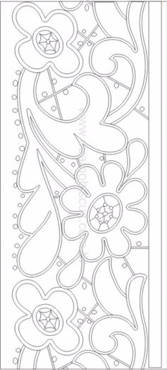 Gallery.ru / Фото #1 - Richelieu scheme III - GWD Piping Patterns, Stencil Patterns, Card Patterns, Mosaic Patterns, Cutwork Embroidery, Hand Embroidery Stitches, Embroidery Patterns, Machine Embroidery, Stained Glass Quilt