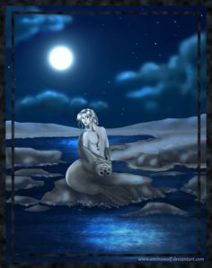 Selkie dreams of the waves on her body...