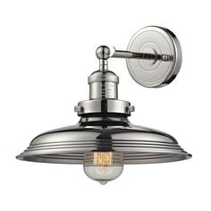 55010/1 | Newberry 1 Light Wall Sconce In Polished Nickel - 55010/1