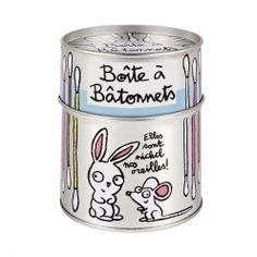 """Boite à Bâtonnets Coton Tige """"Nos Oreilles"""" - DLP"""