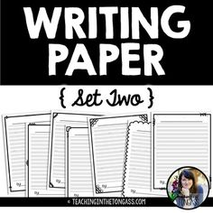 These free writing papers include lines for smaller handwriting. They're simple, black and white (ink-friendly!) and can easily be used all year long. I hope your class enjoys them! Click here to check out more Writing Workshop resources!
