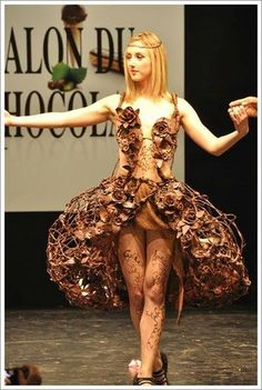 We think this is a fabulous chocolate dress! Think one similar will appear in our Charity in Chocolate event this September?