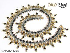 DUO Ziggi SuperDuo Beadwork Necklace Pdf tutorial by bead4me