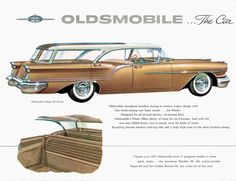 General Motors for 1957: Oldsmobile Fiesta hardtop station wagon