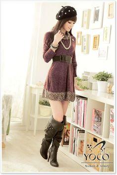 Este vestido es diseñado en Japón, la moda japonesa desborda encanto femenino.