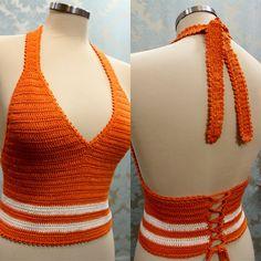 How to Crochet a Bodycon Dress/Top Crochet Bra, Mode Crochet, Crochet Woman, Crochet Blouse, Easy Crochet, Crochet Clothes, Crochet Gratis, Crochet Halter Tops, Crochet Crop Top
