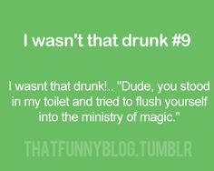 I wasn't THAT drunk...