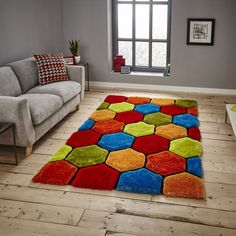 Buy Noble House Multi Rugs from - Free UK Delivery. Noble House NH 30782 Multicoloured Shaggy Rug is handtufted with Acrylic & Polyester yarn in varying pile heights to create a effect. Sizes in: 120 x 170 cm to 150 x 230 cm Funky Rugs, Colorful Rugs, Multicoloured Rugs, Latch Hook Rugs, Machine Made Rugs, Home Rugs, Modern Rugs, Rug Making, Crochet
