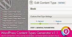 download WordPress Content Types Generator