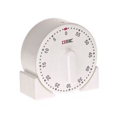 This timer from Bengt Ek Design is made of aluminum and plastic with a time span of 60 minutes. The timer is equipped with a practical magnet that makes it possible to attach it to the fridge or the fan cover, thus it is always close at hand when baking or cooking!