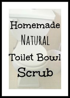 Easy Homemade Natural Toilet Bowl Scrub