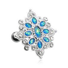 Faux Opal Roesia Ornate Stud Cartilage Earring