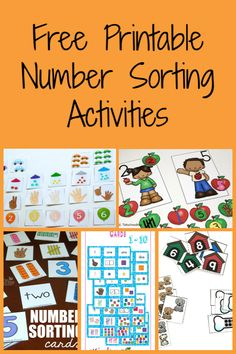 FREE Printable Number Sorting Activities for Kids Math Sorting Activities, Sorting Kindergarten, Airplane Activities, Numbers Kindergarten, Printable Activities For Kids, Kids Learning Activities, Kindergarten Activities, Preschool Activities, Math Numbers