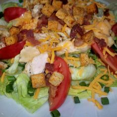 GRILLED CHICKEN SALAD, RESTAURANT STYLE Recipe | Just A Pinch Recipes