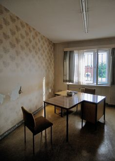 Objkt Photography - Berlin 2014 - Interrogation room - Stasi Prison Police Station, Prison, Berlin, Buildings, Dining Table, Architecture, Room, Photography, Furniture