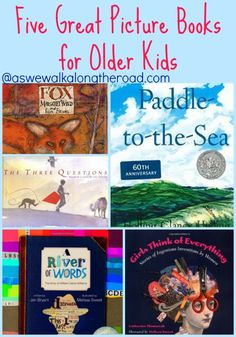 Five Great Picture Books for Older Kids Are picture books only great for little kids? Come find some picture book ideas for upper elementary and middle school aged kids. 6th Grade Reading, 6th Grade Ela, Middle School Reading, Ninth Grade, Seventh Grade, School Pictures, Great Pictures, Read Aloud Books, Library Lessons