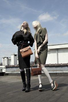 Nina Reijnders & Nikki Hofman by Benjamin Travade for Marie Claire Belgium October 2011