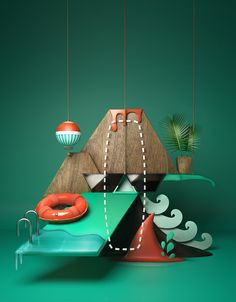 Showcase and discover creative work on the world& leading online platform for creative industries. Adobe Cc, 3d Craft, 3d Artwork, Creative Industries, Advertising Design, Motion Design, 3d Design, Geometric Shapes, Design Inspiration