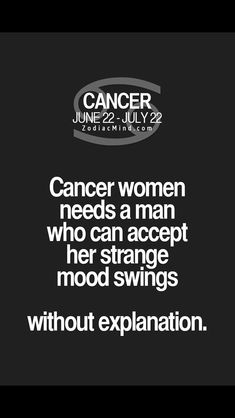 Needs a woman who can accept this. Thank goodness I have an awesome partner 😊/What you should know about Cancer / Cancer zodiac/ Cancer personality traits/ Cancer facts/ Cancer quotes Cancer Zodiac Facts, Cancer Horoscope, Cancer Quotes, Cancer Astrology, Cancer Zodiac Women, Cancer Personality Traits, Cancer Traits, Fun Facts About Yourself, Cancerian