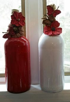 Wine bottles turned to something pretty!!