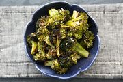 Roasted Broccoli from Simply Recipes - I DO NOT LIKE BROCCOLI but I am sneaking these from the bowl before dinner