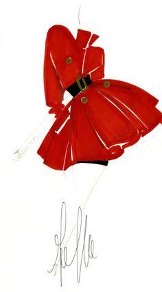 Fondazione Gianfranco Ferré / Collections / Woman / Prêt-à-Porter / 1988 / Fall / Winter Illustration Mode, Fashion Illustration Sketches, Fashion Sketches, Drawing Sketches, Fashion Drawings, Fashion Prints, Fashion Art, Gianfranco Ferre, Ferrat