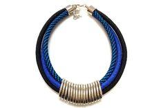Colar de Corda Elos Blue   The Joy Bijoux & Acess   Elo7
