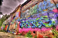 hdr pink photography | graffiti alley - HDR Photo | HDR Creme
