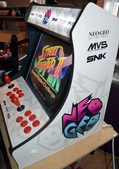 White Neo Geo themed Bartop Arcade Machine