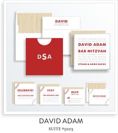 <a href=/bar-mitzvah-invitations-5203>Suite Details→</a><strong><a href=/david-adam-in-colors>see more colors→</a></strong>