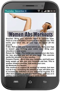 Women Abs Workouts<p>How to obtain the ideal 6 pack. Ladies too as males appear excellent with well toned abs so have a search at this free application and start training today.<p>There are lots of different types of coaching programs for women's ab muscl Abs Workout App, Tummy Workout, Muscle Fitness, Health Fitness, Tummy Exercises, Us Cellular, Abs Women, Toned Abs, Physical Fitness