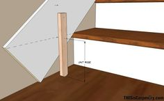 Stair skirting DIY trim on existing staircase