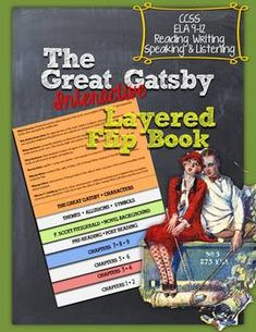 The Great Gatsby: Interactive Flip Book Easy to assemble. Just one fold! -Each chapter has study guide questions -Characters -Pre Reading Teaching American Literature, High School Literature, Teaching English, Reading Post, Teaching Reading, Teaching Tools, Teaching Ideas, Learning, Ela Classroom