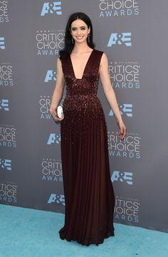 Pin for Later: Ne Manquez Pas un Seul des Looks Vus aux Critics' Choice Awards Krysten Ritter Portant une robe signée Zuhair Murad.