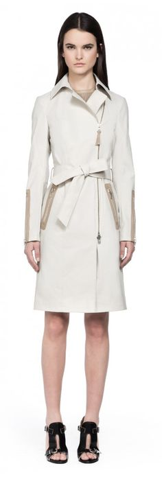 Mackage - EUGENIA CREAM CLASSIC TRENCH COAT