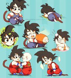 Dragon Ball | Kid Son Goku | Kid Kuririn - Visit now for 3D Dragon Ball Z compression shirts now on sale! #dragonball #dbz #dragonballsuper