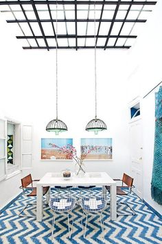 So fresh and beautiful …  Wondering about white windows, really brightens things up… Color and Pattern in Morocco