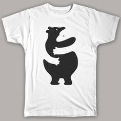 The use of negative space is very effective as it makes viewers have a second look at the design to fully grasp the entire concept of the design. For example, one may immediately see the black bear on the shirt but upon taking a closer/second look, a bear in white can be seen; vice versa.