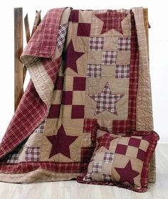 Link is just to the photo.  I love the choice of colors and the simplicity of this quilt. Very Americana.