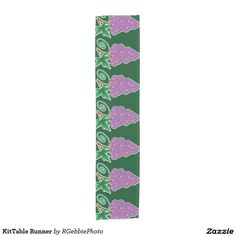 KitTable Runner Short Table Runner - $44.95 - KitTable Runner Short Table Runner - by #RGebbiePhoto @ zazzle - #grape #bunch #purple - Matches our yellow background tablecloth, and matching kitchenware. Dark green background on large grape bunches of purple grapes on a vine. Forest green background gives this image a natural feel. Great gifts for wine lovers, purple and green natural theme.