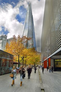 The Shard - often better to pull back and include more surrounding detail (such as  Autumn leaves).