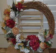 Christmas Wreath Winter Wreath Holiday Wreath by TheBloomingWreath, $74.99