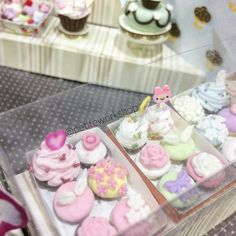 These are some of my miniature handmade cupcakes...you can decorate your own in our camps