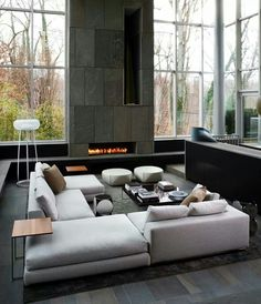50 Shades of Grey ... Rooms | Modern living rooms, Modern living and ...