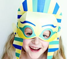 Egyptian King Tut Mask - Smallful Now you can be a Queen or King any old day of the week. Tutankhamun became King at the ripe old age of 9 or 10, so it's not that far of a stretch to pretend your own kids are king or queen for the day. They can rule the roost, the pets, and their room with this quick King Tut Mask. DIY, fun for kids, created with a Cricut, costume