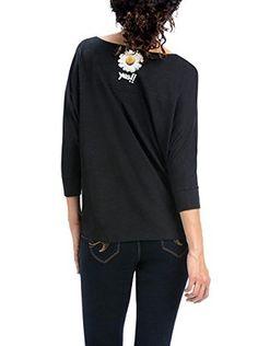 Desigual Camiseta Manga Larga Gabi (Negro / Morado)
