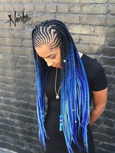 Blue And Black Braids Pictures pretty blue in 2019 braided hairstyles box braids Blue And Black Braids. Here is Blue And Black Braids Pictures for you. Blue And Black Braids box braids with feed ins colors black and blue. Blue And . Box Braids Hairstyles, My Hairstyle, Girl Hairstyles, African Hairstyles, Drawing Hairstyles, Black Girl Braids, Braids For Black Hair, Girls Braids, Blue Box Braids